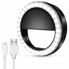 Lampa tip inel cu led de iluminare de mici dimensiuni Black