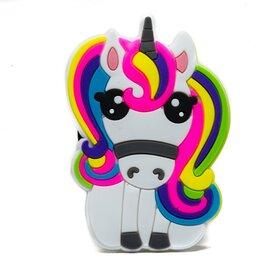 Suport stand adeziv pentru telefon model desen animat sub forma de Unicorn Colorat