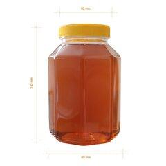 Borcan miere plastic alimentar octogonal 1kg