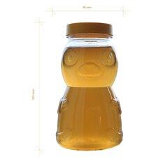 Borcan miere plastic alimentar urs 1kg