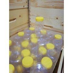 Borcan miere plastic alimentar urs 1kg bax 50buc