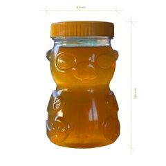 Borcan miere plastic alimentar urs 500g