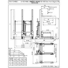 LEV 600 carucior cu lift, inaltime ridicare 1.4 m