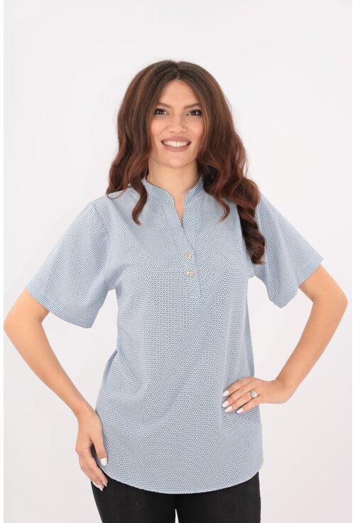 Bluza bleu cu buline mici albe