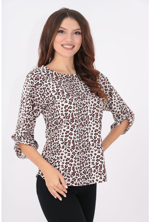 Bluza lejera cu animal print