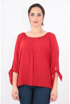 Bluza rosie din vascoza