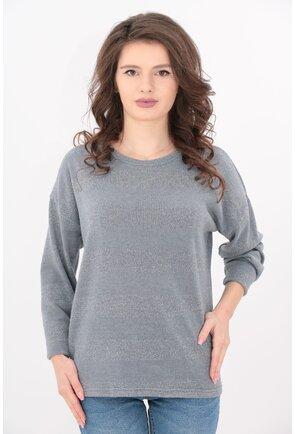 Bluza tricotata gri