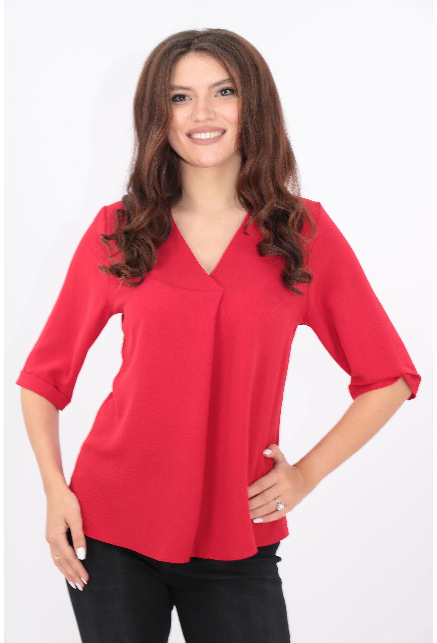 Bluza uni rosie din vascoza