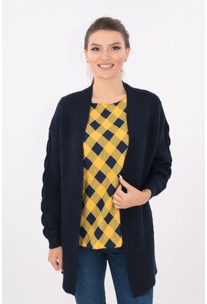 Cardigan lung bleumarin tricotat spic