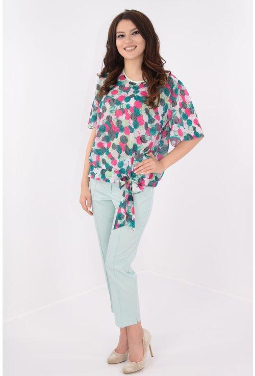 Costum elegant bluza si pantaloni vernil