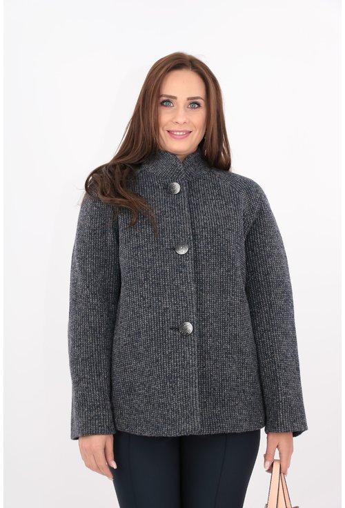 Jacheta din stofa groasa bleumarin cu captuseala matlasata
