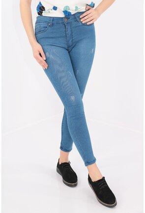 Jeans skinny fit cu rosaturi decorative