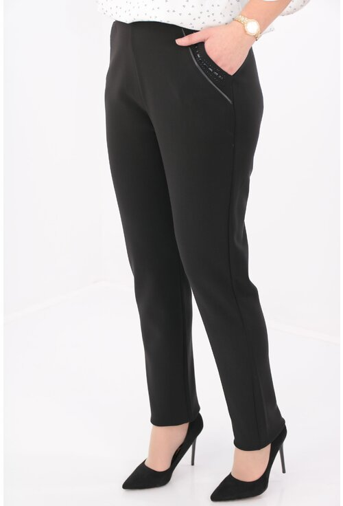 Pantaloni conici office negri