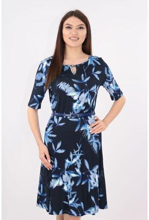 Rochie clos cu flori albastre