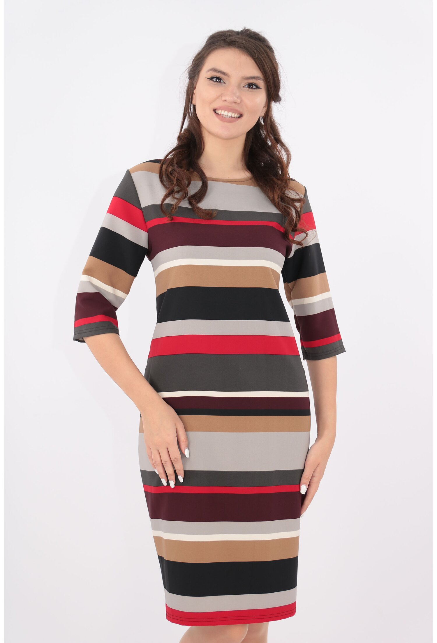 Rochie cu dungi multicolore