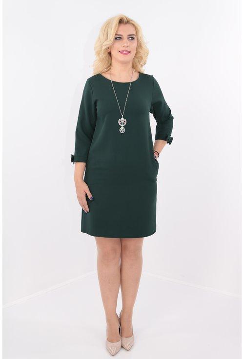 Rochie verde cu fundite