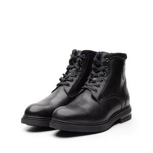 Ghete barbati din piele naturala, Leofex - Mostra 991 Negru box