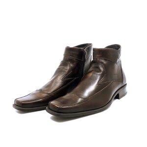 Ghete casual din piele naturala pentru barbati - 373 maro box
