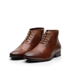 Ghete casual din piele naturala pentru barbati - 873 Cognac