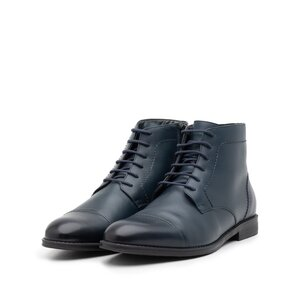 Ghete barbati din piele naturala, Leofex - 914 Blue Box