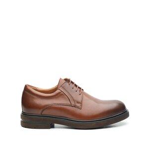 Pantofi barbati casual din piele naturala Leofex - 998 Cognac Box