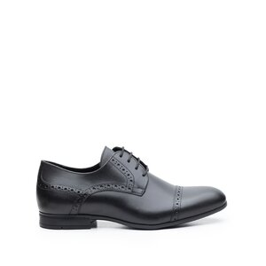 Pantofi barbati eleganti din piele naturala ,Leofex -1022 Negru Box