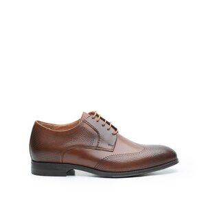 Pantofi barbati eleganti din piele naturala,Leofex-580 Cognac Box