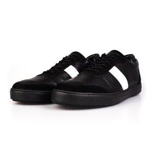 Pantofi barbati sport din piele naturala Leofex - 532 Negru Box