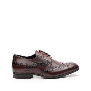 Pantofi casual barbati din piele naturala, Leofex- 1021 Visiniu box