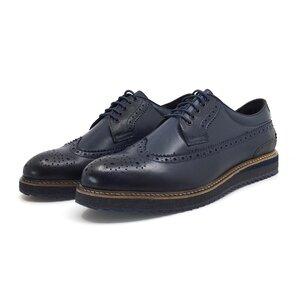 Pantofi casual barbati din piele naturala, Leofex - 538 Blue box