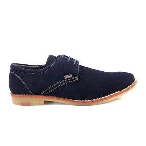 Pantofi casual barbati din piele naturala,Leofex - 578-1 blue velur