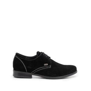 Pantofi casual barbati din piele naturala,Leofex - 578 negru velur