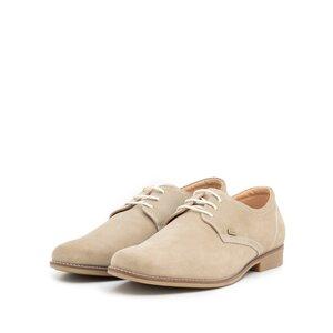 Pantofi casual barbati din piele naturala,Leofex - 578 taupe velur