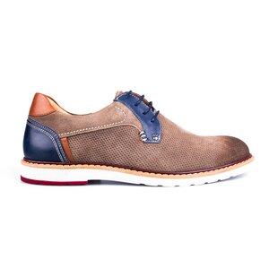 Pantofi casual barbati din piele naturala Leofex - 590 Taupe Velur