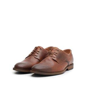 Pantofi casual barbati din piele naturala Leofex - 592 Cognac Box