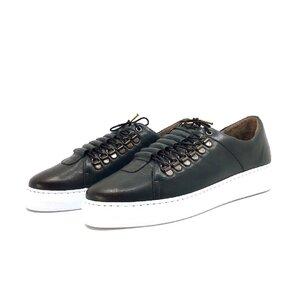Pantofi casual barbati din piele naturala, Leofex - 602 Verde box