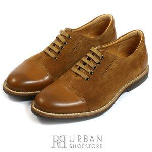 Pantofi casual barbati din piele naturala, Leofex - 784 cognac box+velur