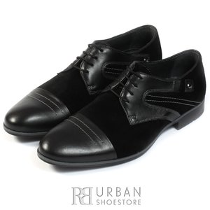 Pantofi casual barbati din piele naturala, Leofex - 785 negru box