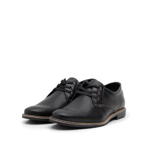 Pantofi casual barbati din piele naturala, Leofex - 787 negru box