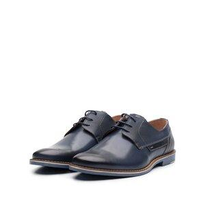 Pantofi casual barbati din piele naturala, Leofex - 845 blue box