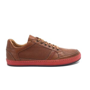 Pantofi casual barbati din piele naturala, Leofex - 854-1 cognac box