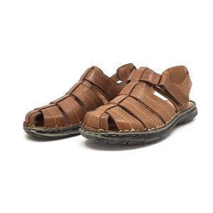 Pantofi casual barbati din piele naturala,Leofex - Mostra 140-1 Cognac Box