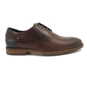 Pantofi casual barbati din piele naturala, Leofex - Mostra 592-2 Maro Box