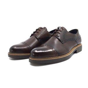 Pantofi casual barbati din piele naturala, Leofex - Mostra Filip red wood box
