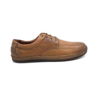 Pantofi casual barbati din piele naturala, Leofex - Mostra Matei 3 Cognac Box