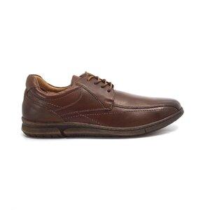 Pantofi casual barbati din piele naturala,Leofex - Mostra Matei cognac box