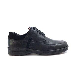 Pantofi casual barbati din piele naturala, Leofex - Mostra Victor negru box velur