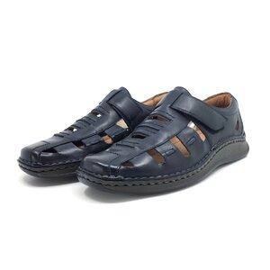 Pantofi casual barbati,perforati din piele naturala, Leofex - 596 blue box