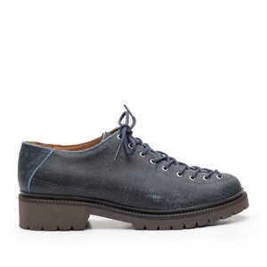 Pantofi casual dama cu siret pana in varf Leofex - 561 Navy+Blue box