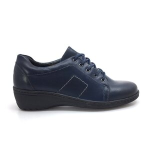 Pantofi casual dama din piele naturala, Leofex - 092-2 Blue box